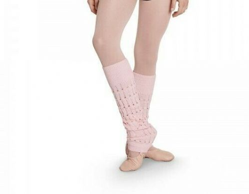 BLOCH Girls Dance Cotton Textured Knit Leg Warmers Warm Up CW5530 Viletta